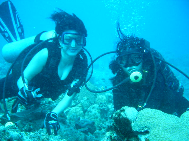 Ms Lala Operationarketing Manager Dive Instructor Of Andrea Beach And Scuba Diving Resort With Sandy Andulong Christopher De Leon S Wife